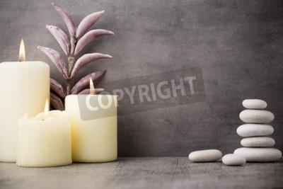 Wall mural Stones spa treatment scene, zen like concepts.
