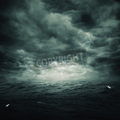 Wall mural Stormy ocean, abstract natural backgrounds for your design