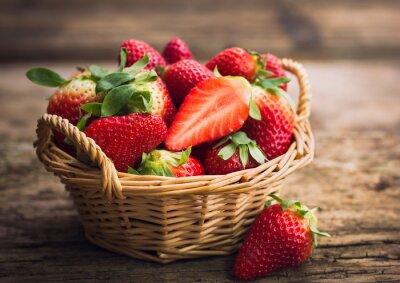 Wall mural Strawberries in the basket