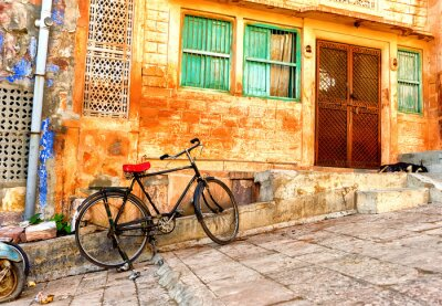 Wall mural Street view of old quarters in Jodhpur city in India