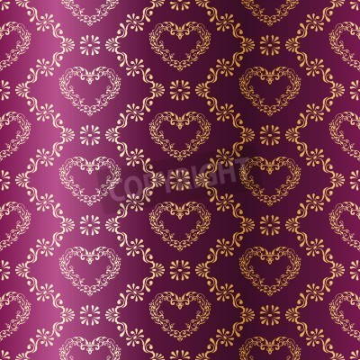 stylish vector background with a metallic heart pattern inspired by Indian fabrics. The tiles can be combined seamlessly. Graphics are grouped and in several layers for easy editing. The file can be s