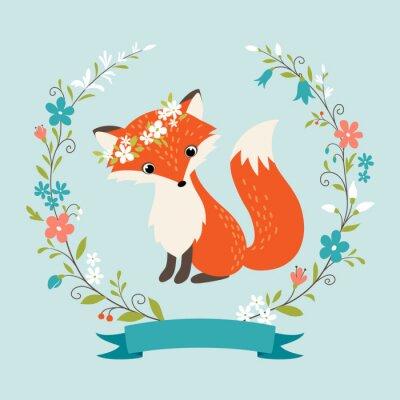 Wall mural Summer fox