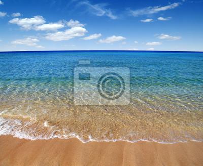 Wall mural summer sand beach and sea