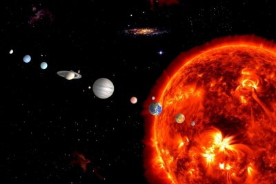 Wall mural Sun System, Elements are furnished by NASA