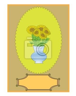 Sunflower. Vintage. Vector