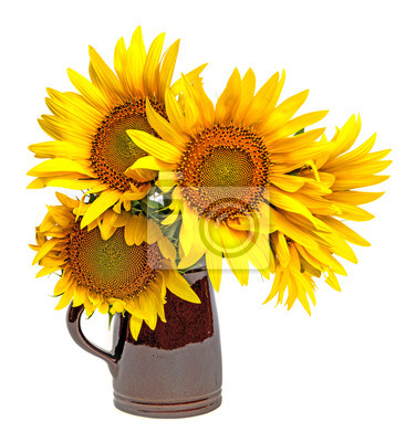 Wall mural sunflowers in a vase