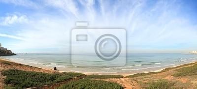 Sunny winter day on Mediterranean sea