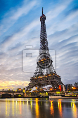 Wall mural Sunrise at the Eiffel tower, Paris