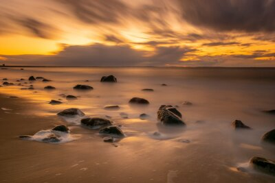 Sunset over the Baltic Sea, Wolin National Park, Poland