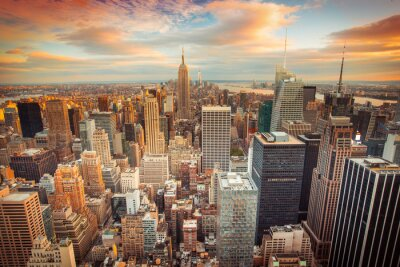 Wall mural Sunset view of New York City looking over midtown Manhattan