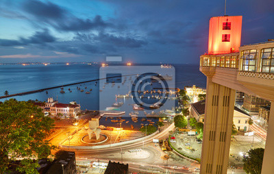 Wall mural Sunset view of Salvador City in Bahia, Brazil