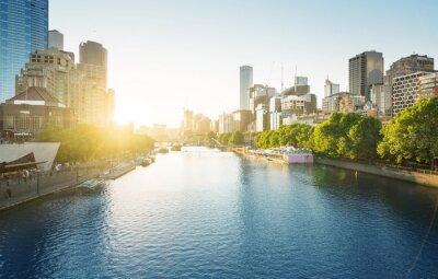 sunset, Yarra River, Melbourne, Victoria, Australia