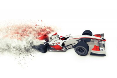 Wall mural Superfast 3D generic race car