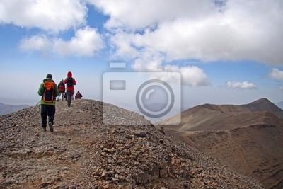 Sur la longue crête du M'Goun - 4070 m (Atlas, Maroc)