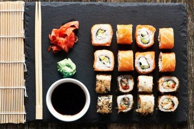 Wall mural Sushi rolls