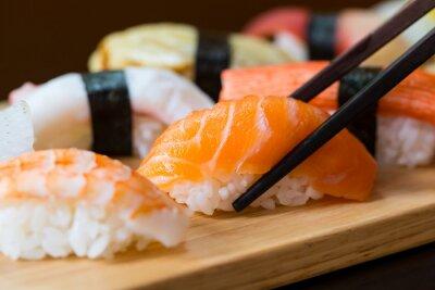Wall mural Sushi set, Japanese food