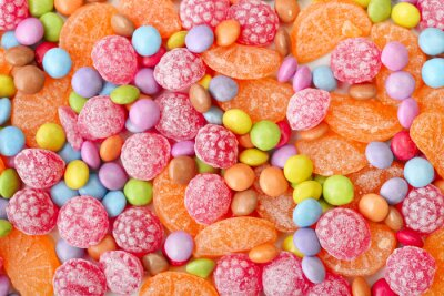 Wall mural Sweet multicolor candies