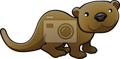 Sweet Otter Vector Illustration