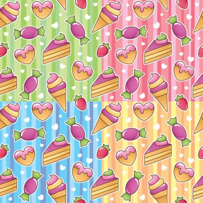 Wall mural sweets patterns