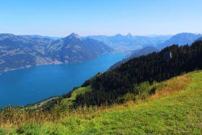 Wall mural  Switzerland, mountain and lake
