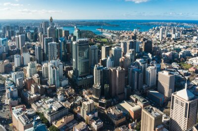 Wall mural Sydney Central business district from the air