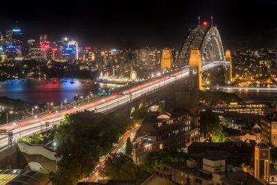 Wall mural Sydney Harbour Bridge at night