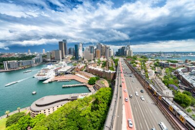 Wall mural SYDNEY - NOVEMBER 7, 2015: Panoramic city view. Sydney attracts