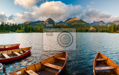 Szczyrbskie jezioro.Tatry wysokie,Słowacja