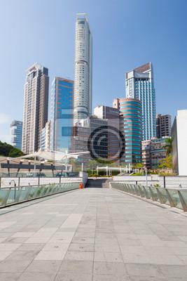 Tall buildings in hong kong