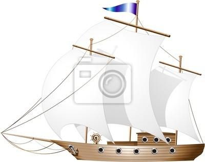 Tall Ship Cruise -Vector