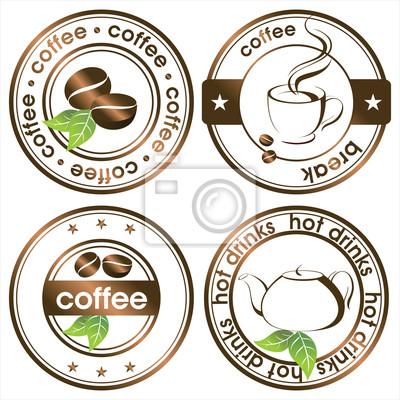 tea and coffee stamps set