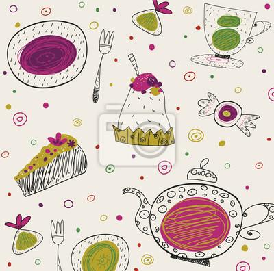 Tea time template design