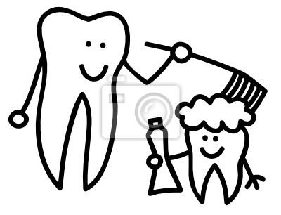 Wall mural teeth