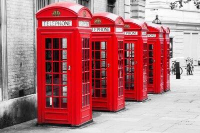 Wall mural Telefonzellen in London im Color-Key-Verfahren