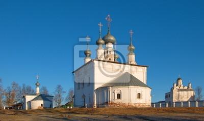 Temples of Pokrovsky monastery  of Suzdal.