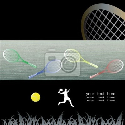 Tennis abstract conceptual background.Vector illustration.