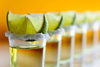 Wall mural tequila , lime and salt