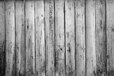Wall mural textured background of old boards. Black and white photography