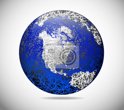 The abstract globe