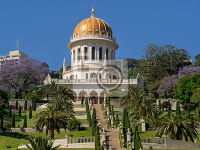 The Bahai Gardens in Haifa. Shrine of the Bab