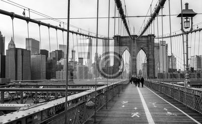 Wall mural The Brooklyn Bridge in New York city, USA.
