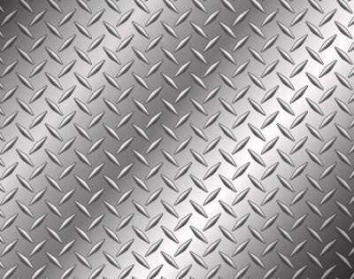 Wall mural The diamond steel metal texture background