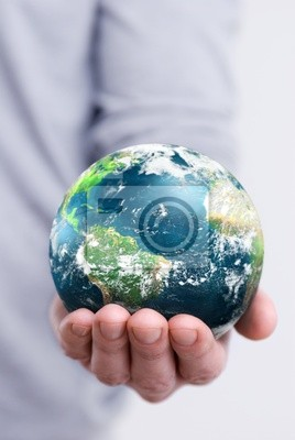 The globe in hand