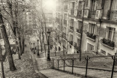 Wall mural The historic district of Montmartre in Paris,France