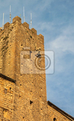 """The medieval """"Tower with  Piglet"""" in  ancient Italian city of Volterra"""