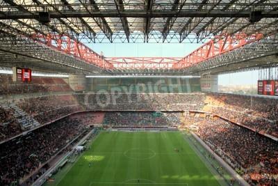 Wall mural The San Siro stadium during an AC Milan football game