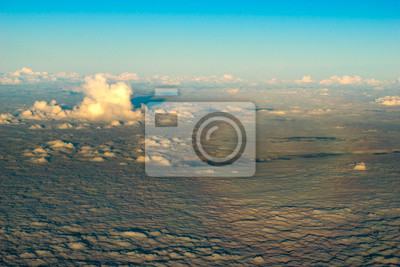 the specter of brocken visible on the clouds