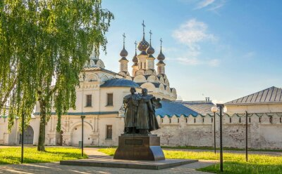 The square in front of  Annunciation Monastery in  ancient Russian city of Murom