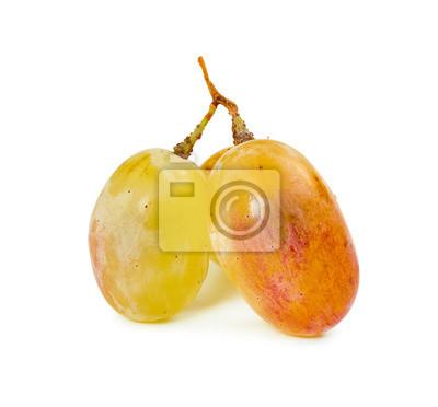 Three berries of yellow grape