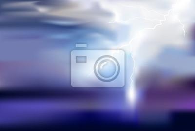 thunder, lighting vector background